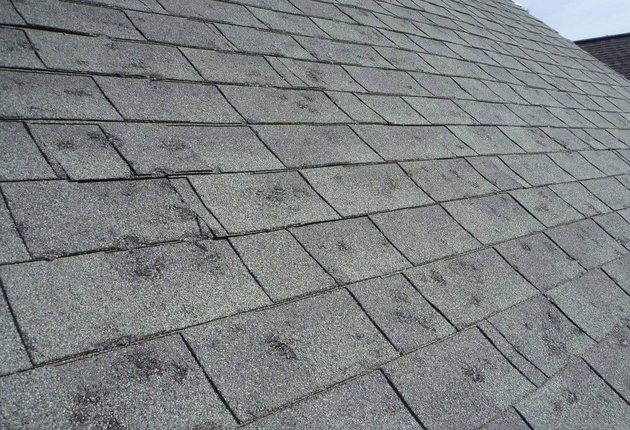 what does hail damage look like on a roof