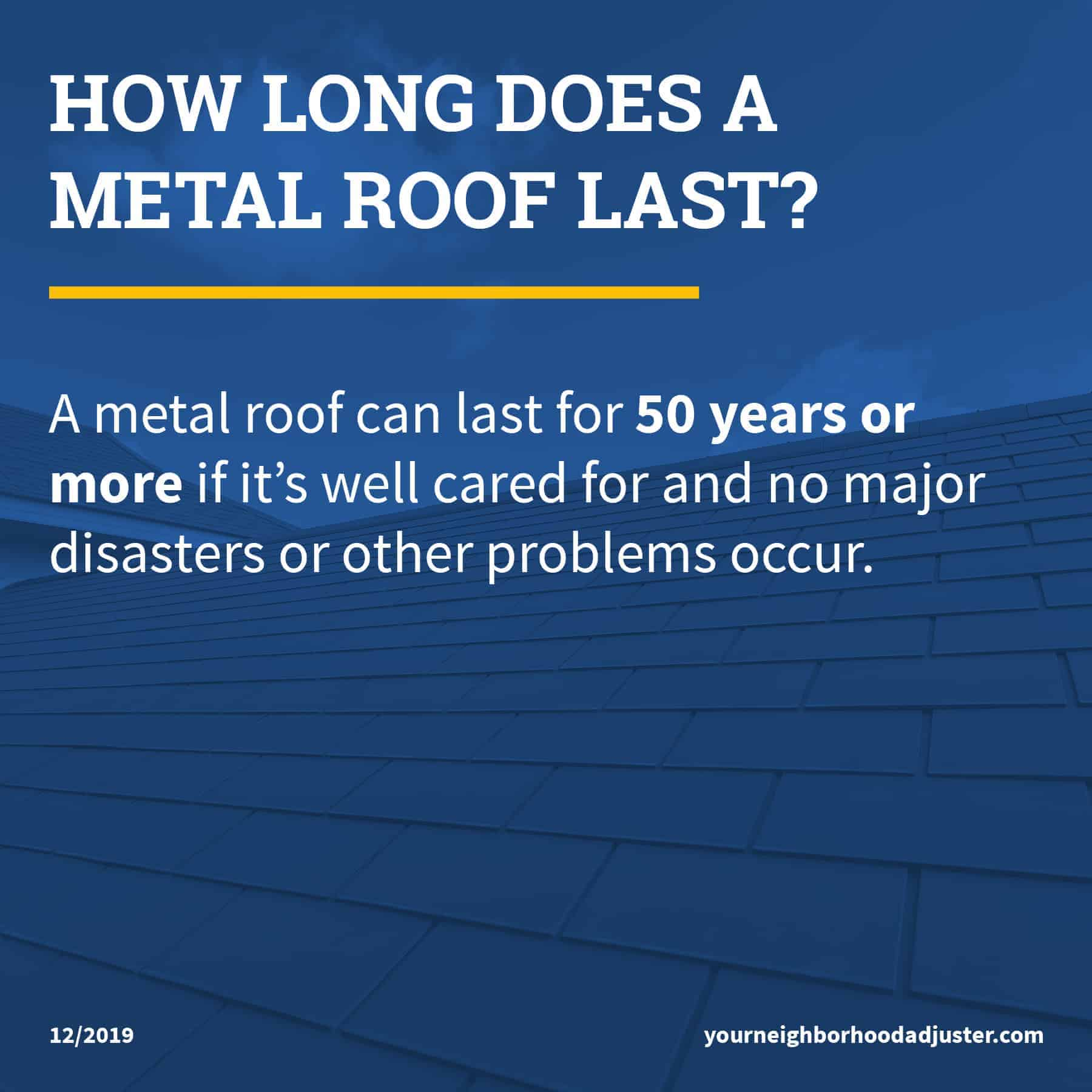 how long does a metal roof last